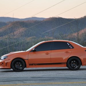 side shot on US 129 (tail of the dragon)