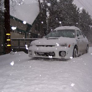 A little snow on my wrx