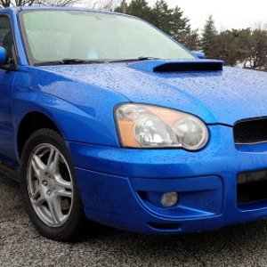 Blue '04 Wrx With Sti Wing